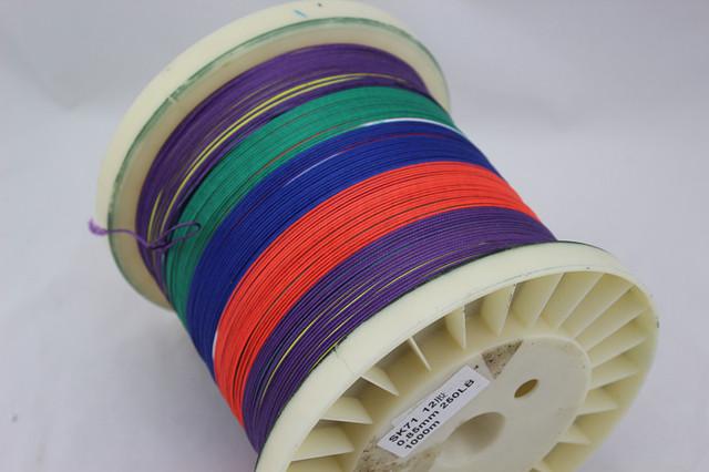 Free Shipping Multicolor 1000M 200LB PE Braid Fishing Line 0.75mm 6strand