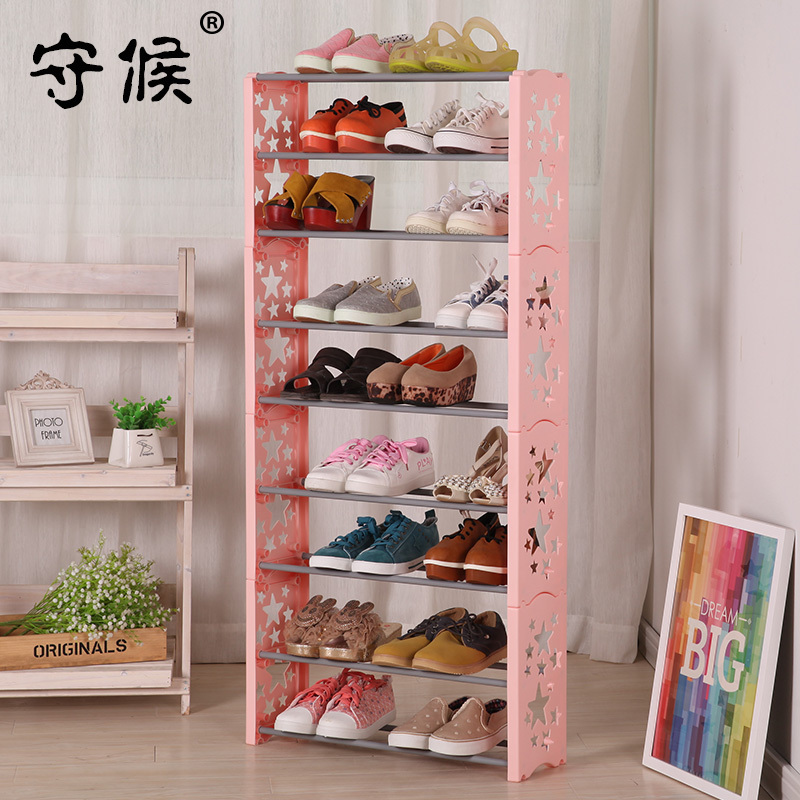 Formation Thickening Plastic Storage Wardrobe ABS Shoes Cabinet Hanger Rack Furniture 3/5/7/9Layers(China (Mainland))
