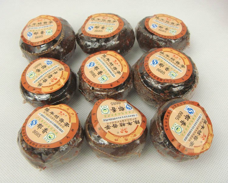 9pcs Orange Puerh Tea 2005 year Old Tree Puer with Orange Fragrance Good gift PT58 Free