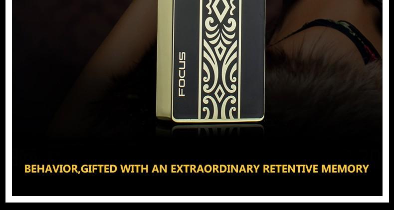 ถูก โฟกัสBriquet USBไฟฟ้าArcชีพจรพลาสม่าเบาสำหรับผู้ชายชาร์จคนที่มีของขวัญลมชายเบาIsqueiroแกดเจ็ตสำหรับผู้ชาย