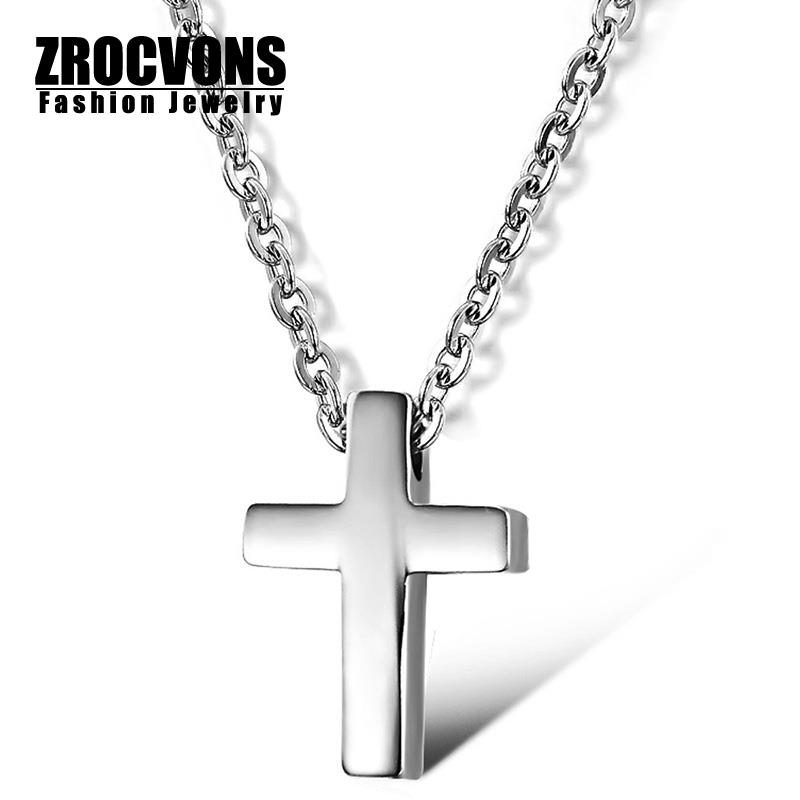 Wholesale 2015 New Hot Fashion Jewelry Cross Chain Women's 18k Gold Plated 316l Stainless Steel Necklace For Women and Men(China (Mainland))