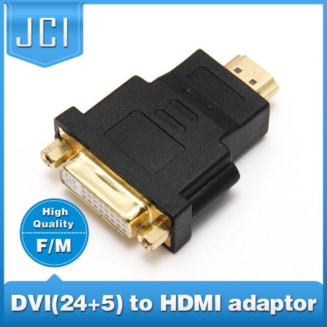 High Quality DVI female to HDMI male DVI 24+5 PIN Converter/convertor hdmi to DVI adapter Freeshipping(China (Mainland))