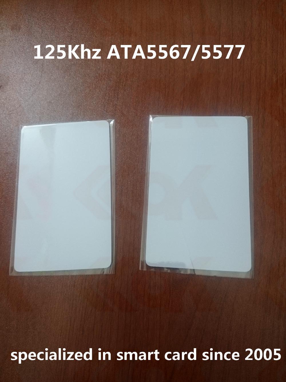 2000pcs/lot Smart Card proximity id cards T5577 T5567 Writable 125khz rfid card(China (Mainland))
