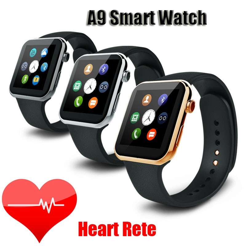 2016 New Smartwatch A9 Bluetooth Smart watch for Apple iPhone & Samsung Android Phone relogio inteligente reloj smartphone watch(China (Mainland))