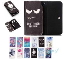 Cartoon pattern PU Leather slot wallet pouch cellphone case skin cover Bag With Card Wallet For Elephone P6000 Pro