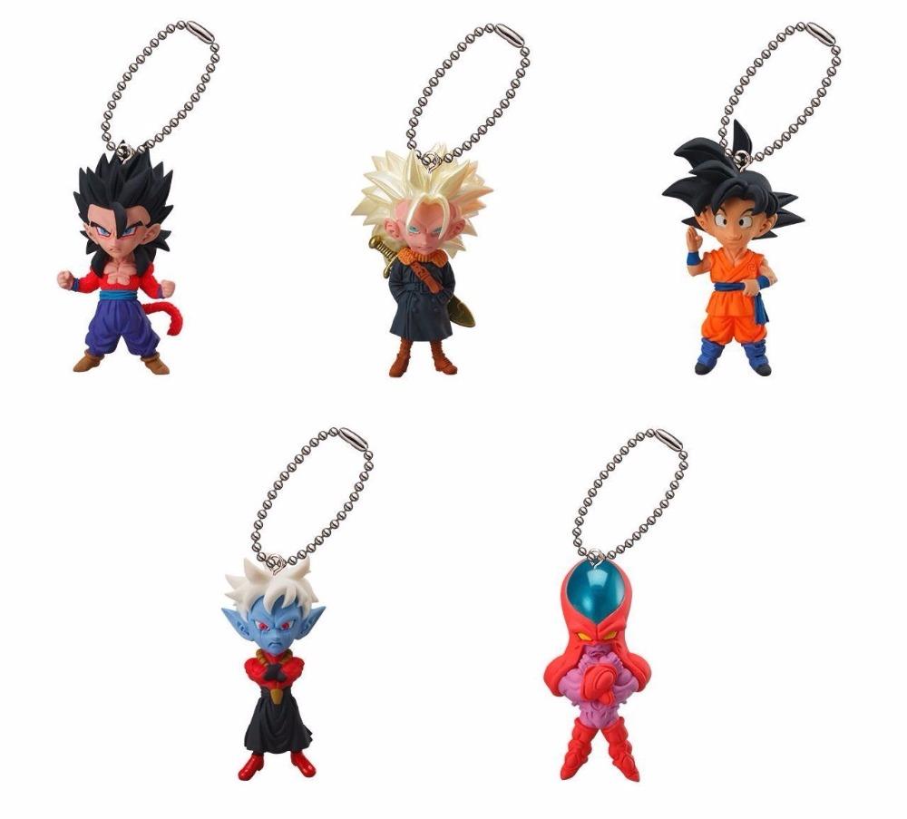 Dragon Ball Z DBZ Figure - Bandai Gashapon UDM BURST 18 ~Gohan S4,Trunks S3,Goku,Mira,Hatchiyack~ Ultimate Deformed Mascot Toys(China (Mainland))