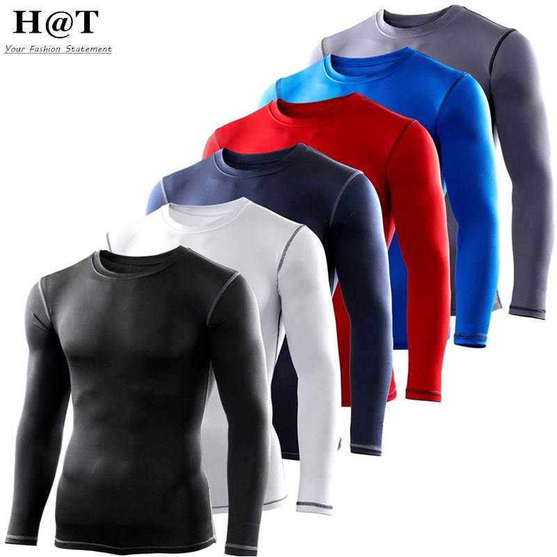 JT88 S-XXL Men's Boy Compression Body Base Layer Jerseys Under Top Long Sleeve Sport T-Shirts Skins Gear Cool Dry Free Shipping(China (Mainland))