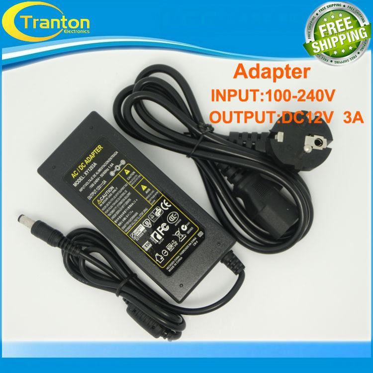 12V 3A AC/DC LED Lighting Transformer,US UK AU EU standard plug 36W LED power Adapter for 3528 LED RGB Strip<br><br>Aliexpress