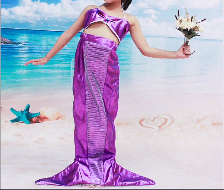 Childrens Little Mermaid Fancy Dress Costume Sea Princess Outfit 4-12 Years(China (Mainland))