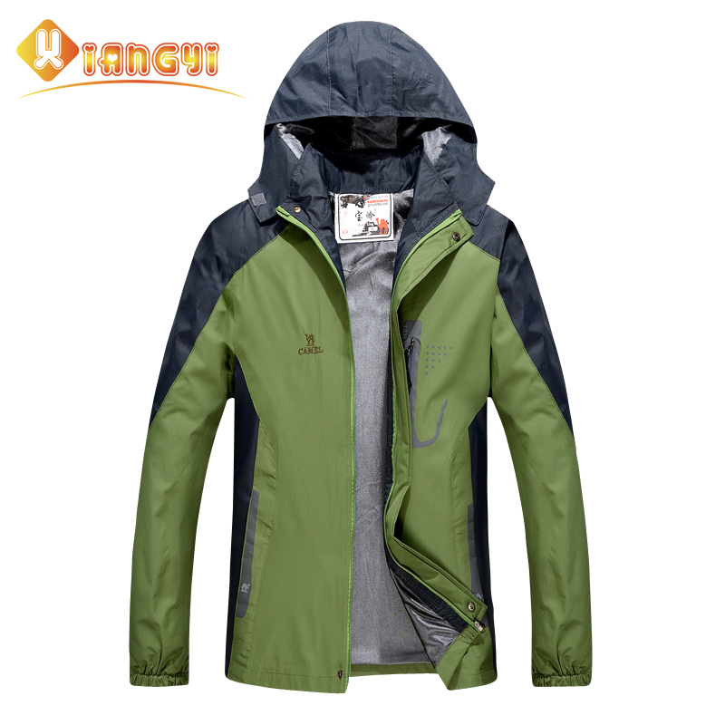 Men camping jacket 2015 softshell outdoor hiking jacket snowboard waterproof rain supermen hunting clothes spring autumn winter(China (Mainland))