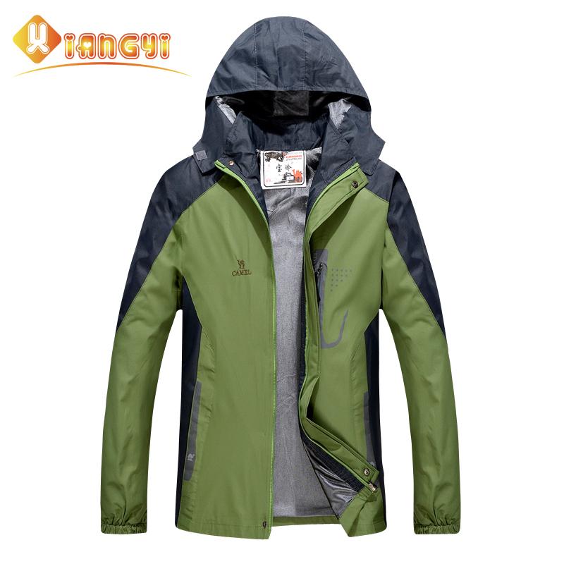 Men camping jacket 2015 softshell outdoor hiking jacket snowboard waterproof rain supermen hunting clothes spring autumn winter(China (Mainland))