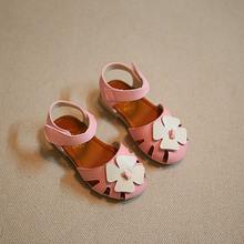 2016 summer sandals baby sandals children flower shoes for girls cute falts kids brand shoes first walker pink sandals white(China (Mainland))