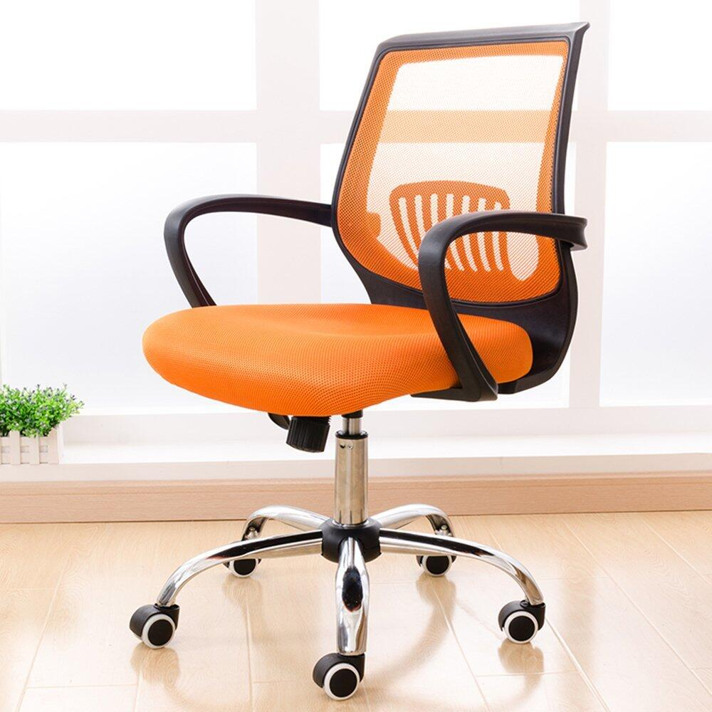 (2pcs/lot)Conference lift chairs with stainless steel wheel gaming chair office chair Orange(China (Mainland))