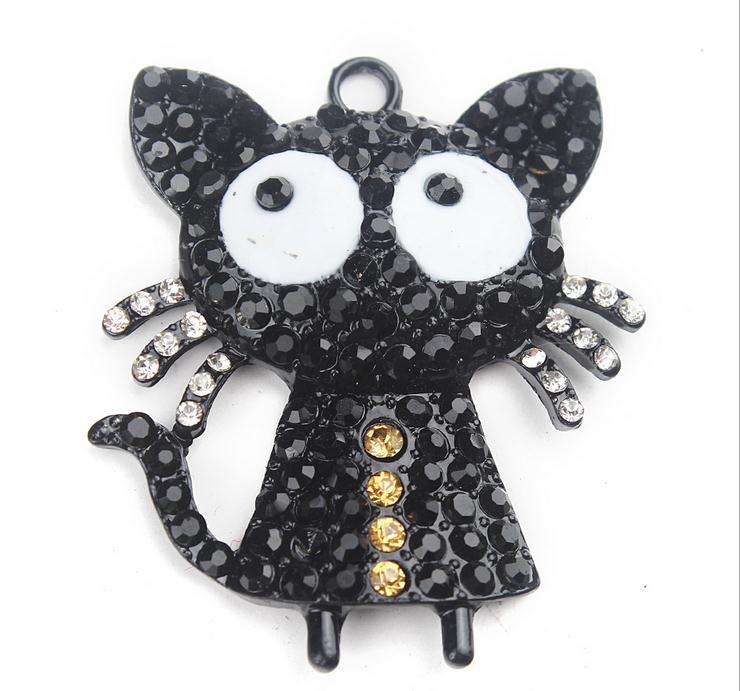 The Hot Cute Black Cat Animal Cartoon Pendant Charms Necklace for Women Fashion Jewelry(China (Mainland))