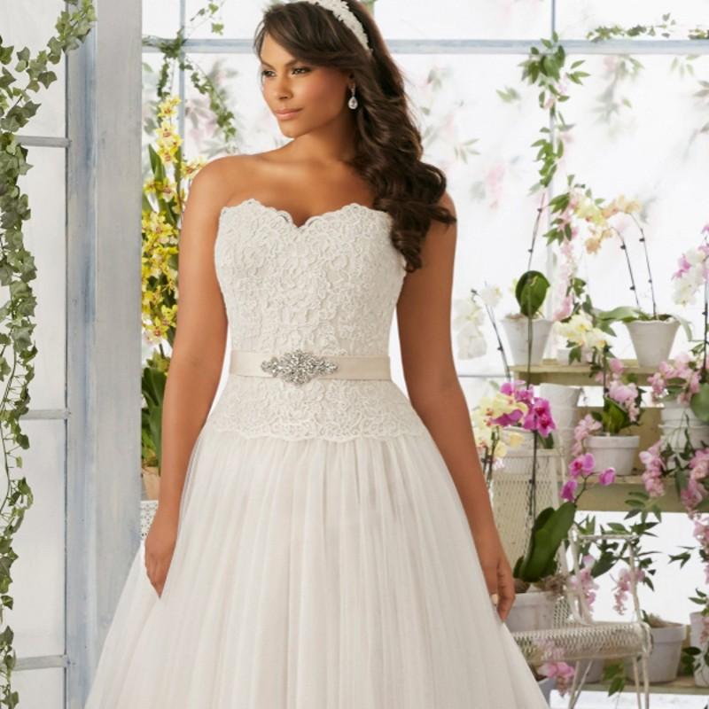 W1300 New Plus Size Wedding Dress Sweetheart with Sashes Zipper Back Tulle Lace Bridal Gown Vestido De Novia
