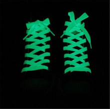 1.2mFlat Coloured Shoe Laces Luminous Shoelace Glow in The Dark Fluorescent Shoelace Athletic Sport Flat Shoe Laces two Pair(China (Mainland))