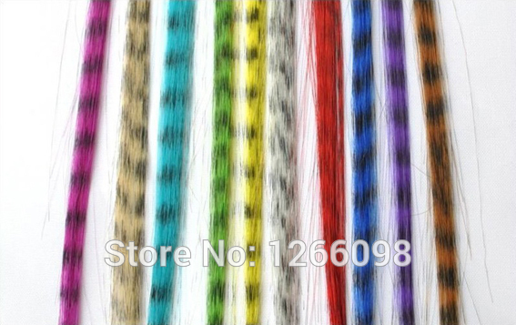 120pcs new arrival top quality 12 colors available hairpiece Grizzly Feather Hair Extensions fake hair free shipping