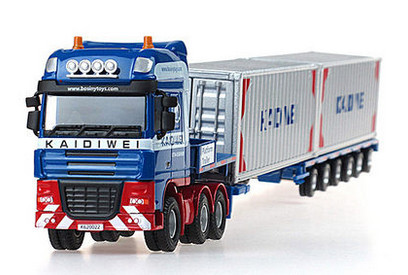 High Quality!!! KAIDIWEI Construction Container Truck Car 1:50 Alloy 37*6.5*5cm Vehicle Toys Gifts Models(China (Mainland))