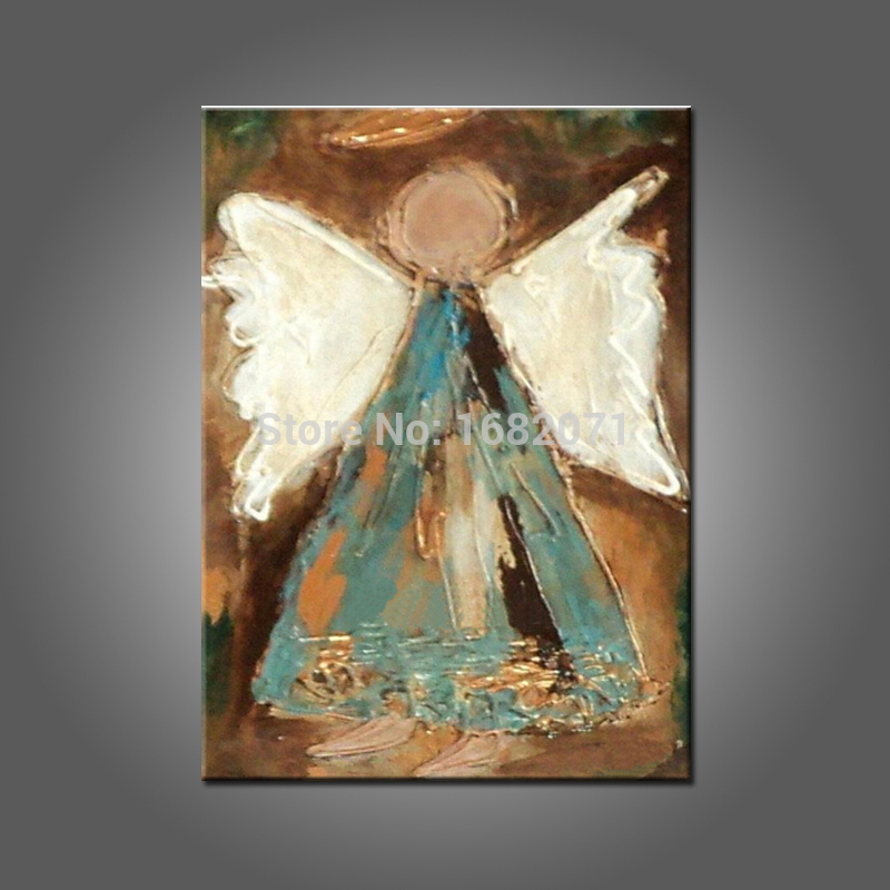 Big Size Baby Room Wall Art Decoration Handmade Healthy Paints Abstract Angel Oil Painting For Wall Artwork No Frame(China (Mainland))