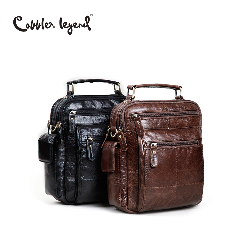 Cobbler Legend Brand Designer Men's Shoulder Bags Genuine Leather Business Bag 2016 New High Quality Handbags For Men 109171(China (Mainland))