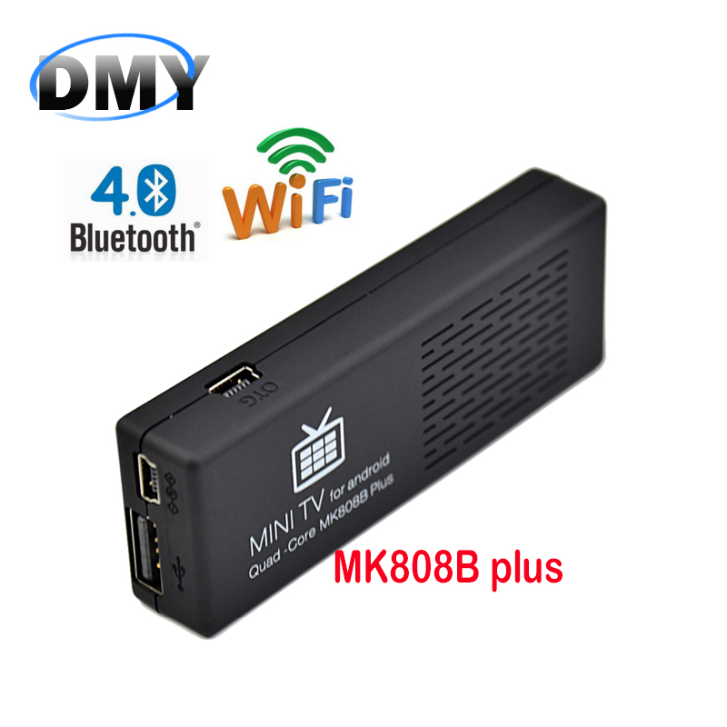 1 pc Mk808B Plus Amlogic Quad Core TV Stick MINI PC 1080P Android 4.4 Airplay Miracast 1G 8G TV Box dongle XBMC fully loaded(China (Mainland))
