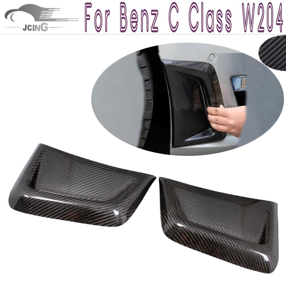 Benz C Class W204 Carbon Fiber Side Air Fenders Vents 1pair C63 AMG 2012 2013 2014 - JCING Store store