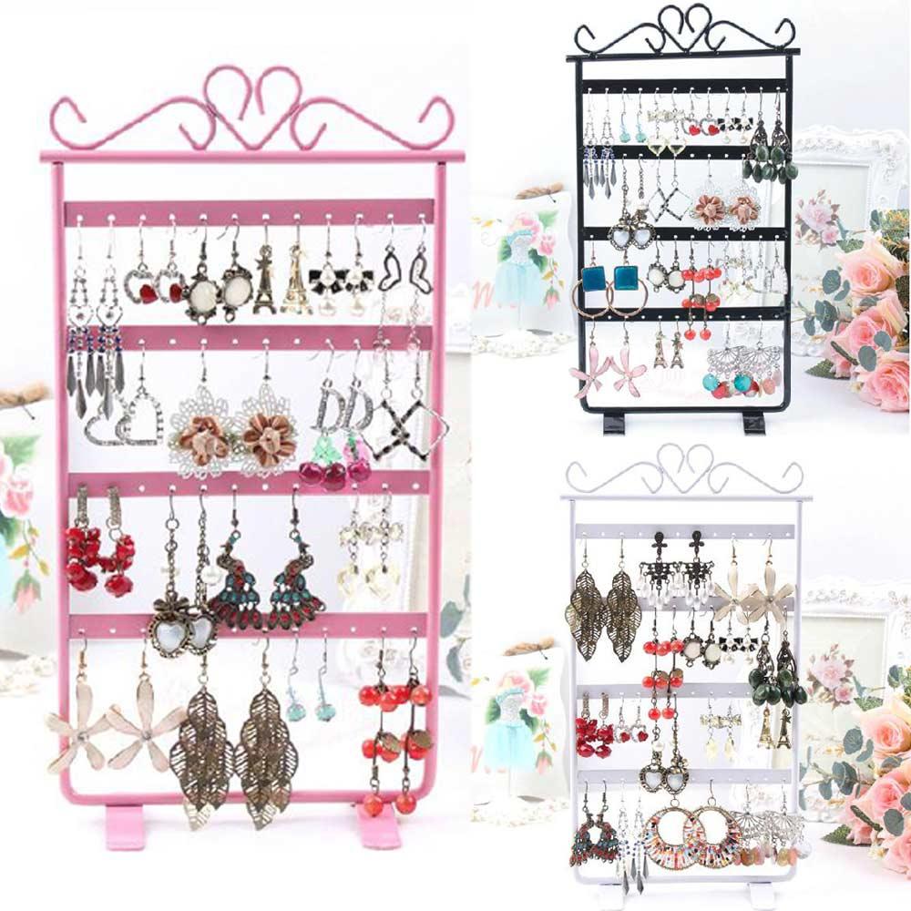 Гаджет  Jewelry  Earrings Display 48 Hole Rack Stand Holder Jewerly Metal Base  High Quality None Ювелирные изделия и часы