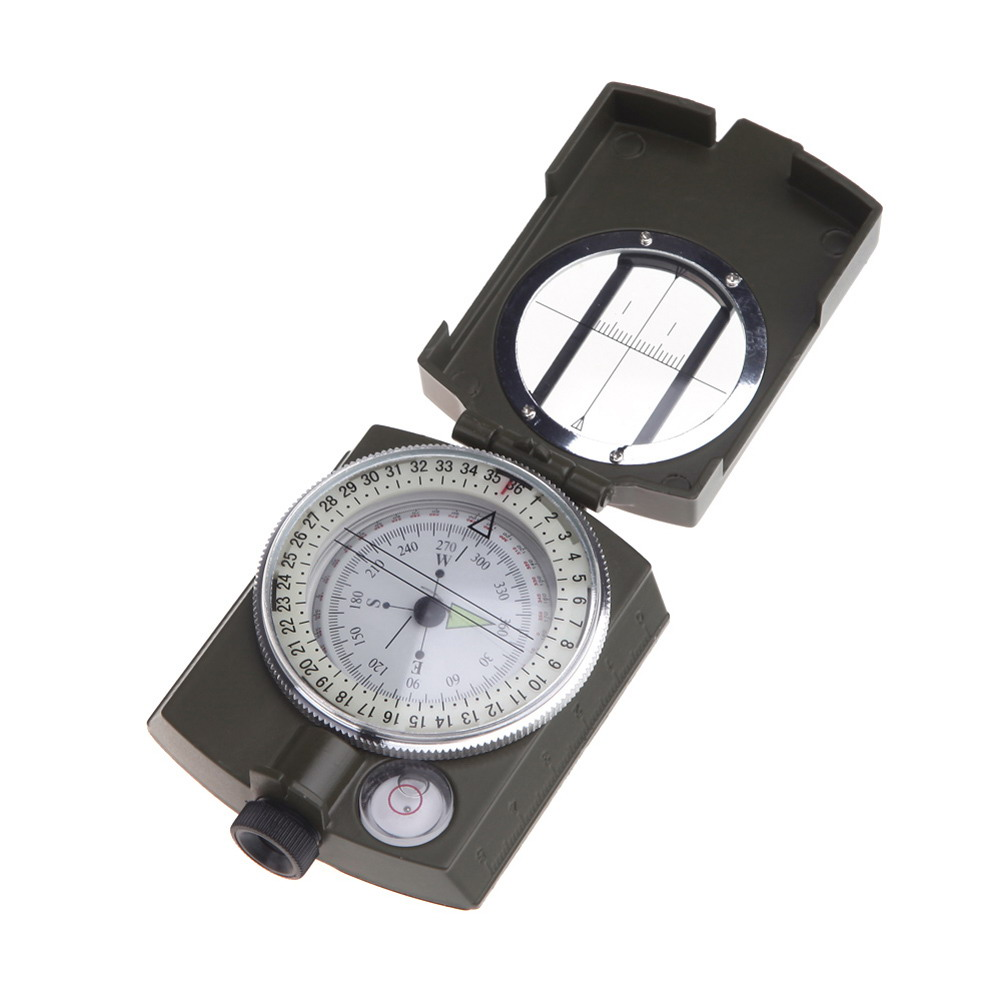 Portable Handheld Military Pointer Compass Multifunctional Outdoor Camping Tools Noctilucent Display Waterproof Campass(China (Mainland))