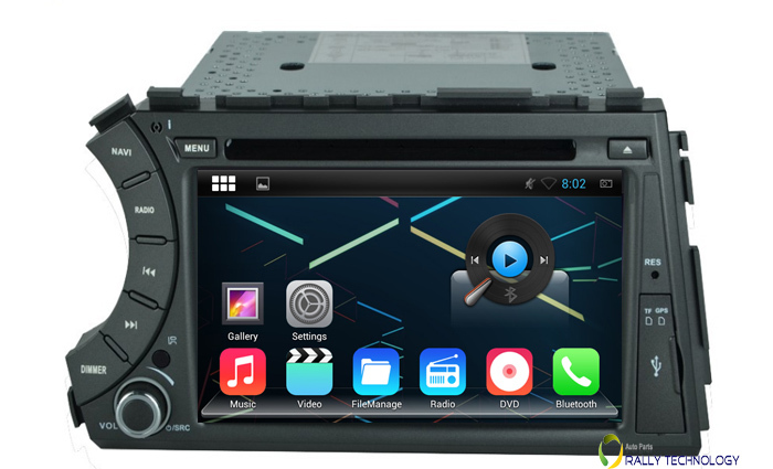 """Free Shipping, 7"""" Capacitive Screen 1024*600 Pixels Quad Core Android 4.4.4 Car DVD For Ssangyong Kyron Actyon 3G WiFi OBD DVR(China (Mainland))"""