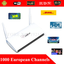 1 Year Subscription 1000 IPTV European Channels TV Box Remote Control Free Android 4.4 WiFi HDMI Smart Android Mini PC TV Box
