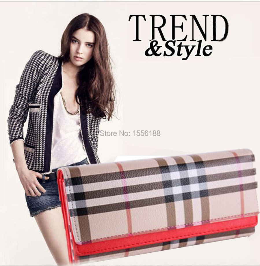 2015 Hot 3 Fold Women Wallets Elegant Mix Color Multifunctional Leather Wallet Lady Purse Phone bag(China (Mainland))