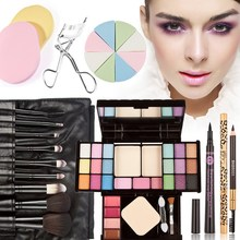 Pro contour palette Colors Makeup Eyeshadow Eyelash Eyebrow Powder Palette 7pcs Brush Free Shipping F#OS(China (Mainland))
