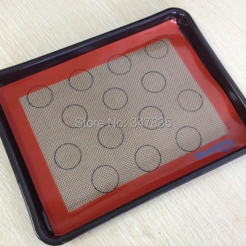 19X25CM Mini Non stick macarons silicone baking mat Small oven liner high temperature sheet - duanduan yu's store