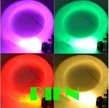 fibra optica 45W RGB strands LED Fiber Optic light Illuminator DIY ceiling star kit 5M+Controller+ Engine 110V 220V by DHL 2 set(China (Mainland))