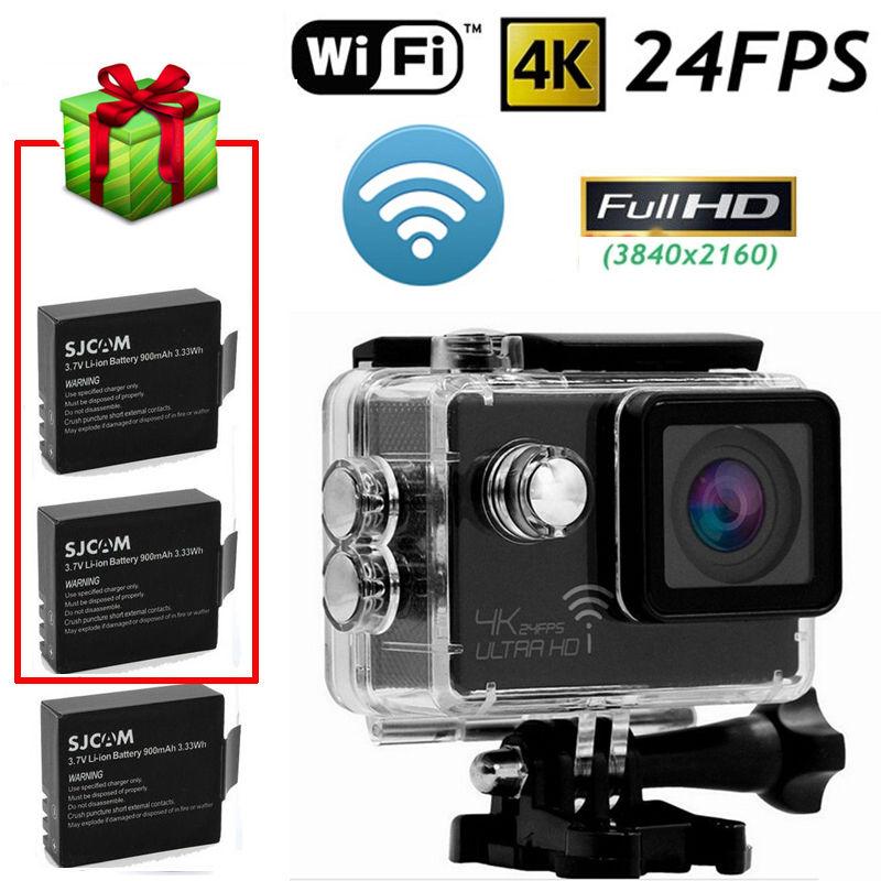 Фотография Free shipping!SJ8000 Full HD 4K 24FPS WiFi Waterproof Sport Action Car Camera DVR+Batteries