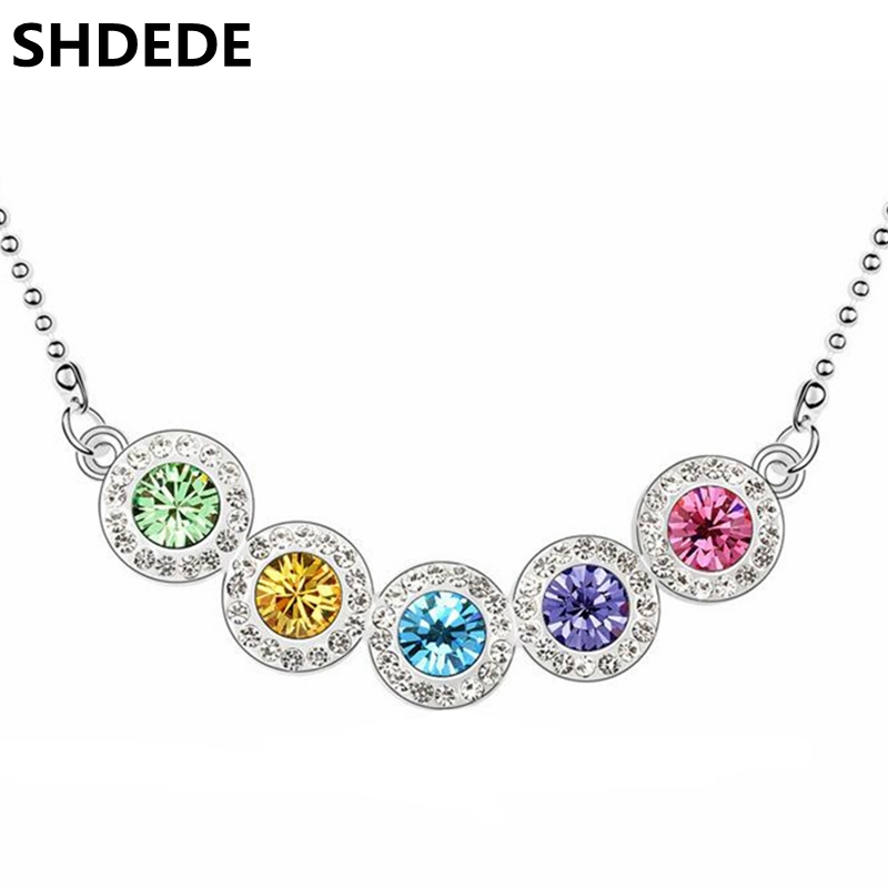 SHDEDE 2016 Fashion Necklace Pendants Women Jewelry Crystal Swarovski Elements White Gold Plated 10839 - Store store