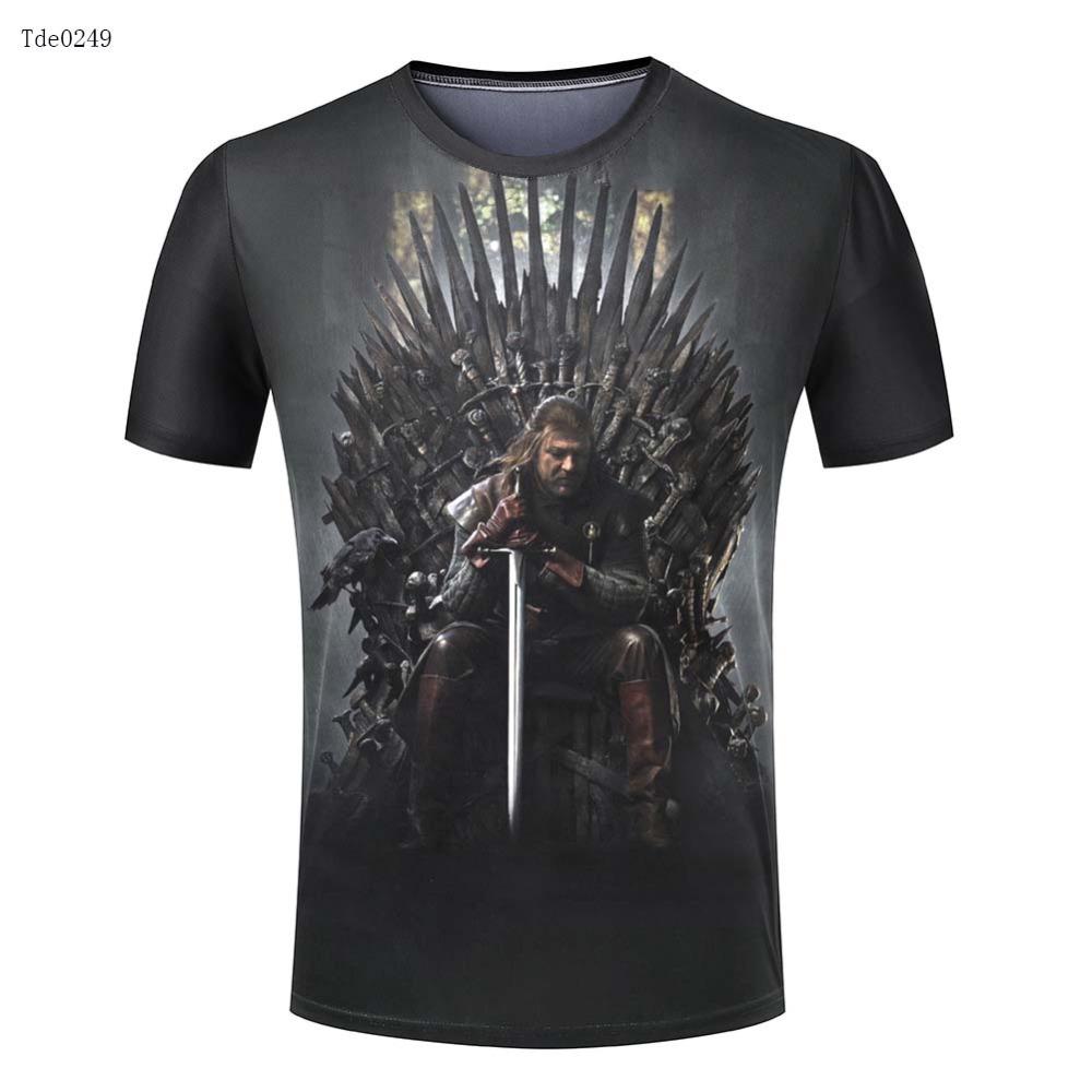 Winter is coming men t shirt 3d brand hot sale t shirts for Best mens t shirt brands