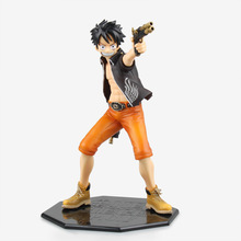 Anime Figurine One Piece Monkey D Luffy Door Painting 1/7 Scale PVC Action Figure Collection Model Toy 23cm
