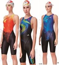 Yingfa 2016 new  professional competition swimsuit women girls one piece swimwear kids training swimwear racing  knee swimsuit