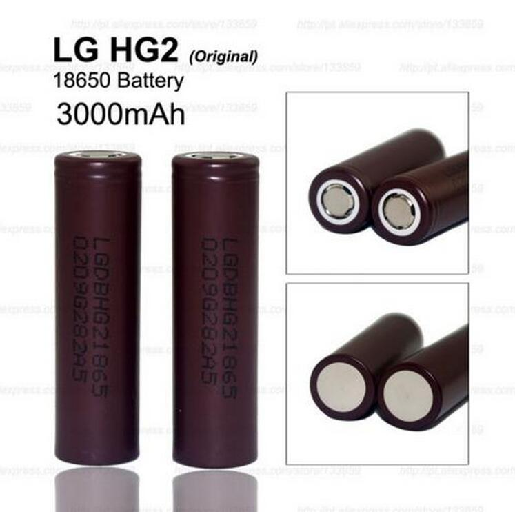 3PCS New original LG HG2 battery 18650 3000 mAh 18650 battery 3.6 V discharge 20a, Dedicated electronic cigarette battery power(China (Mainland))
