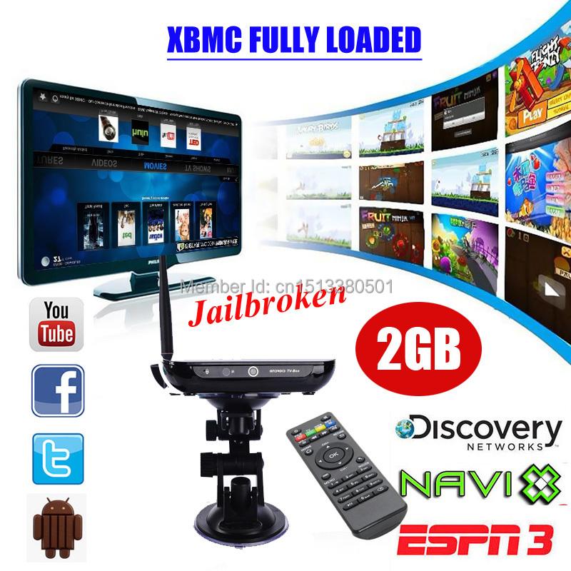 XGODY Quad Core XBMC Streamer Box Full Loaded Internet Tv Android 4.4 2GB+8GB Smart TV BOX Streamer CS968 Media Player Movies(China (Mainland))