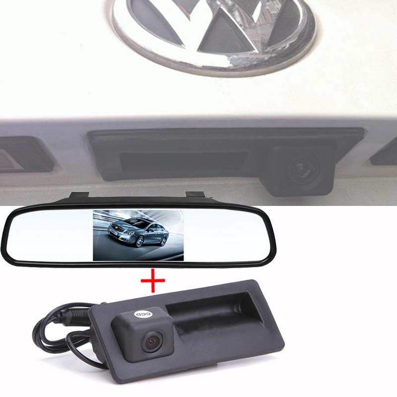 2 1 Car rearview camera mirror kit VW Tiguan / Golf/ Touareg Passat /Sharan/Jetta/Touran - SDM Electronics store