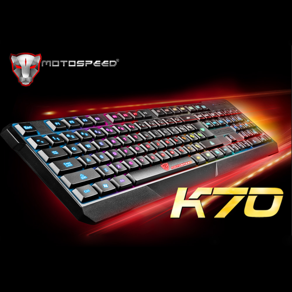 MOTOSPEED 104 USB Wired Pro Gaming Keyboard with 7 Colors LED Backlit Gaming Esport Keyboard for PC Notebook Computer Keyboard(China (Mainland))