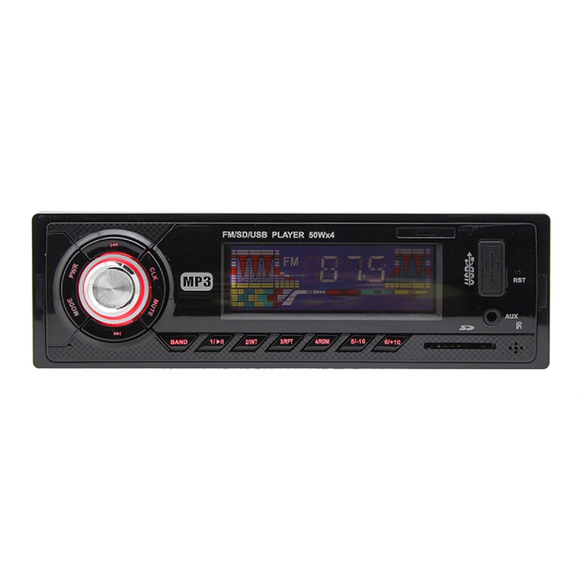 2015 New 12V Stereo Head Unit Car Auto FM SD Card USB MP3 Player Radio Red
