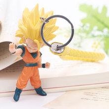Novo dragão bola z chaveiro son goku vegeta troncos anime figuras de ação pingente spielzeug modelo dos desenhos animados coleção brinquedo(China)
