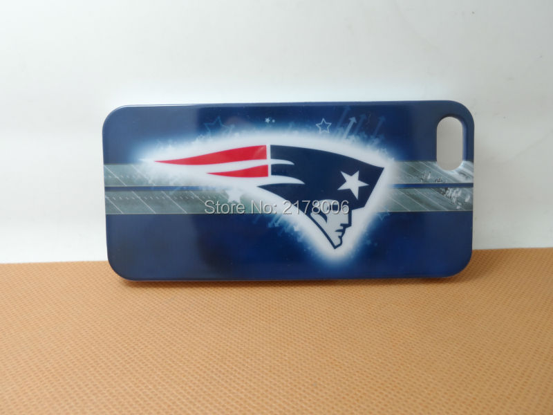 Free Shipping Painting Printed New England Patriots White Plastic Hard Skin Cover For Apple iphone 5 5S 5th Cell Phone Case(China (Mainland))