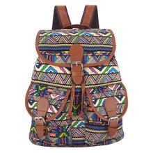 Exclusive New 2016 Handmade Bohemian Mochila Vintage Backpack Drawstring Printing Canvas Bagpack Sac a Dos Femme Rucksack Female(China (Mainland))