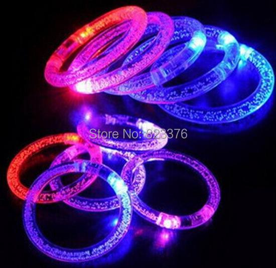 DHL free shipping 100pcs/lot LED bracelet Light up Bracelet flashing bracelet for christmas(China (Mainland))