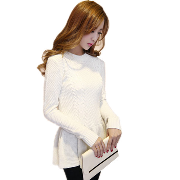 2015 New arrival Spring & Autumn Women Knitting Pullover Female Jumper Fashion Topshop Vintage Tricot Knitted Sweater(China (Mainland))