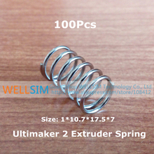 100Pcs UM2 Ultimaker 2 Extruder Spring High Quality Stainless Steel 1*10.7*17.5*7mm For 3D Printer Accessories
